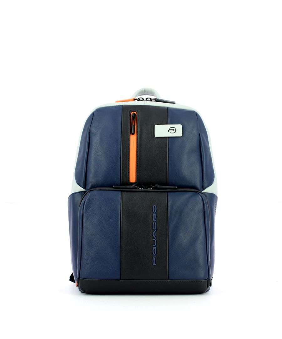 Image for Small Laptop Backpack Urban 14.0 Piquadro BLU/GRIGIO