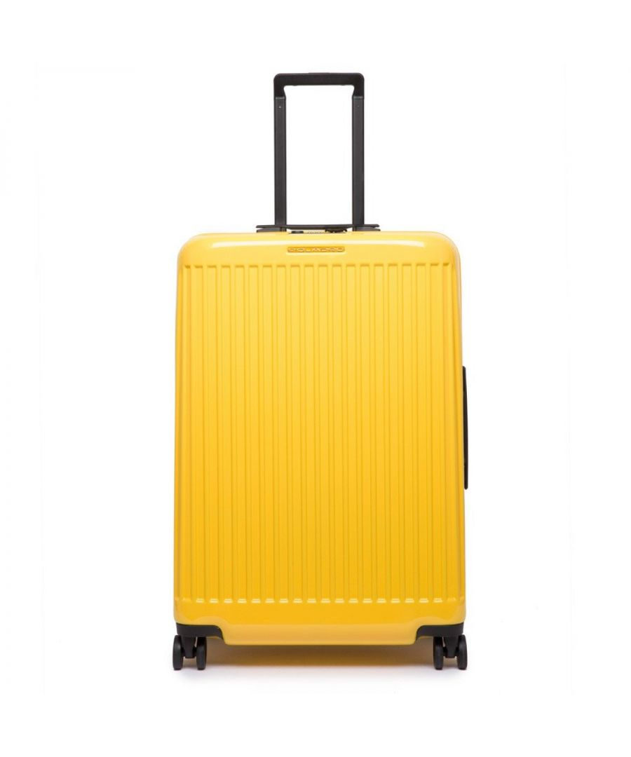 Image for Medium Trolley Seeker Piquadro GIALLO