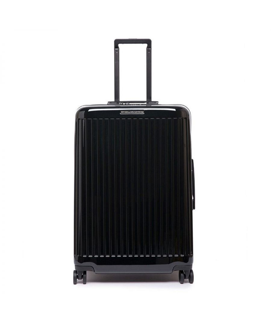 Image for Medium Trolley Seeker Piquadro NERO