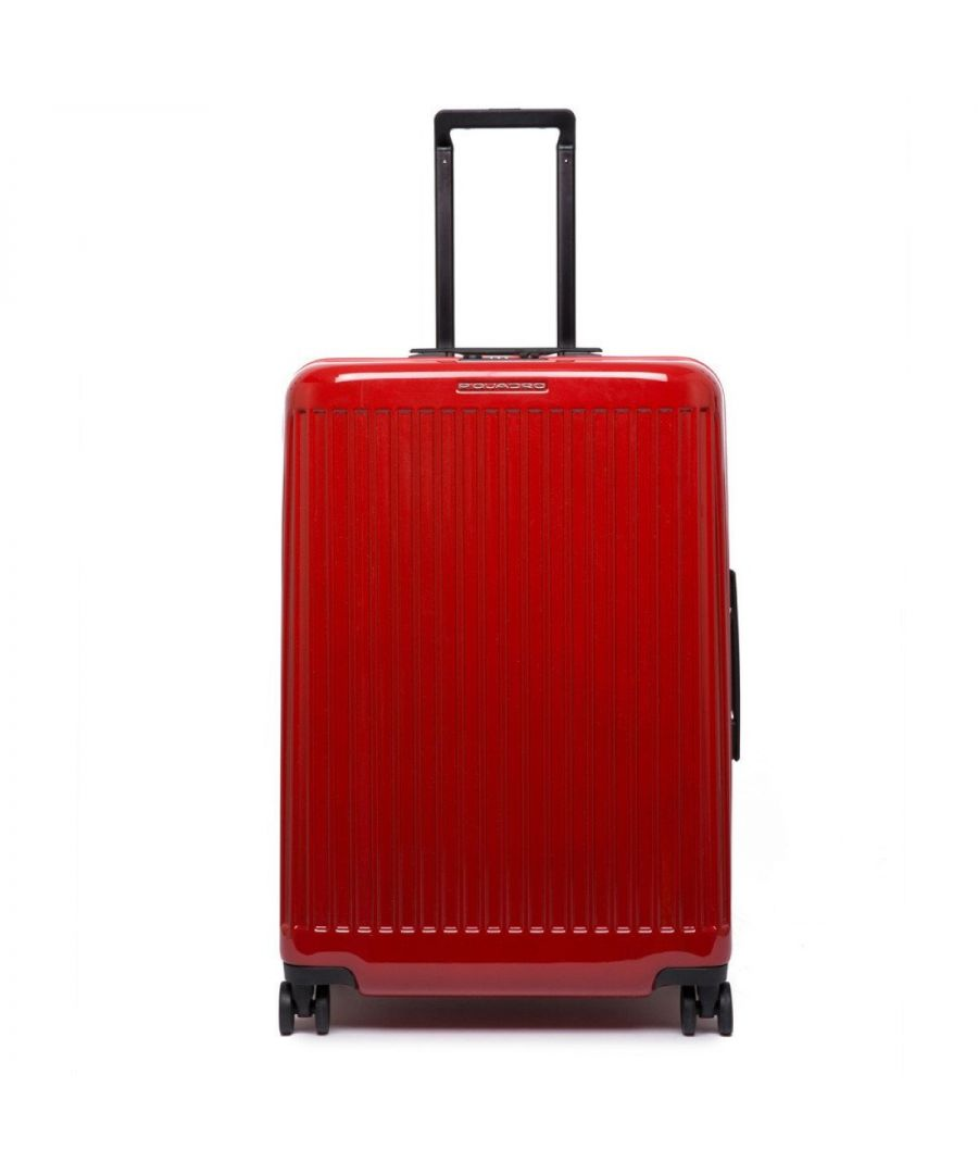 Image for Medium Trolley Seeker Piquadro ROSSO