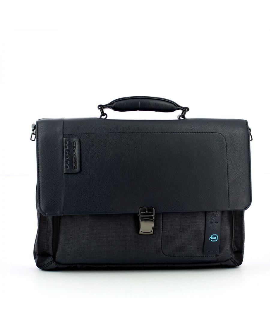 Image for Expandable 15.0 Laptop Briefcase P16 Piquadro CHEV BLU