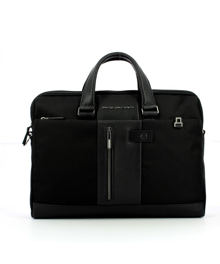 Image for Double handle Business Bag Brief 15.6 Piquadro NERO