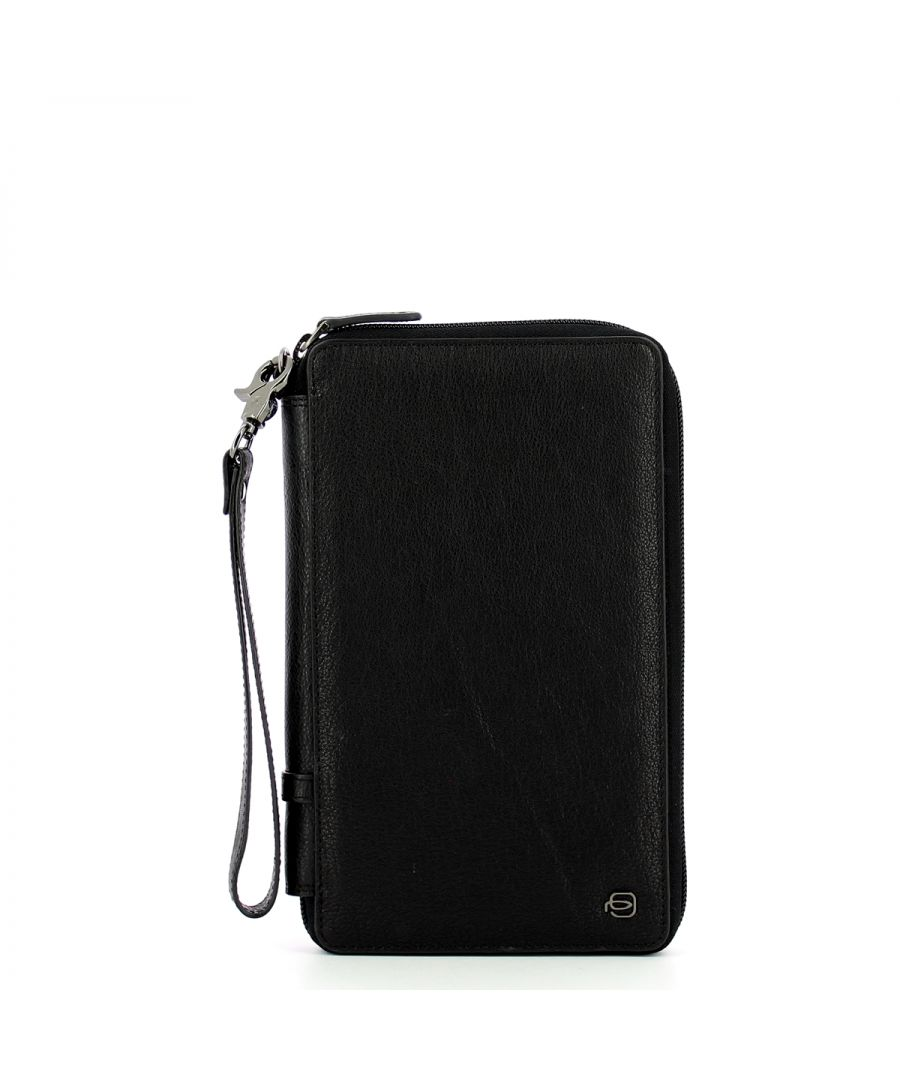 Image for Black Square Document and Credit Card Pouch Piquadro NERO