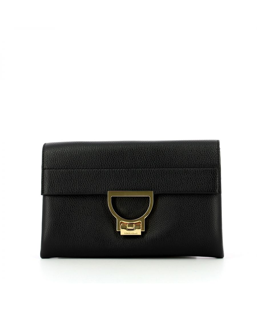 Image for Arlettis Clutch in leather Coccinelle NOIR