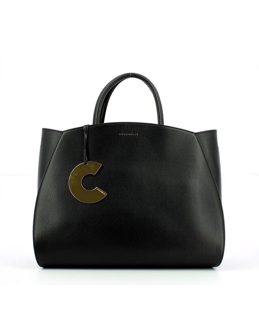 Image for Maxi Concrete Handbag Coccinelle NOIR