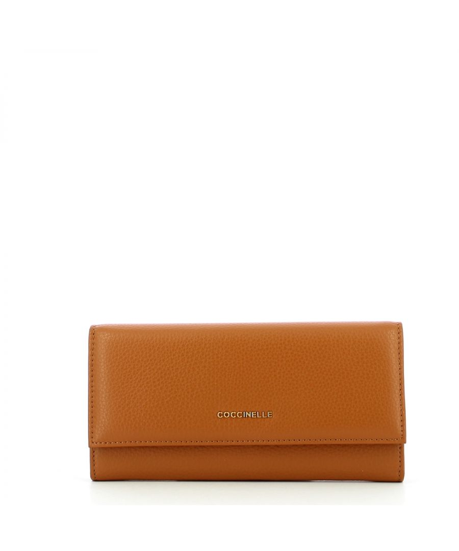 Image for Bifold Metallic Soft Wallet Coccinelle CARAMEL