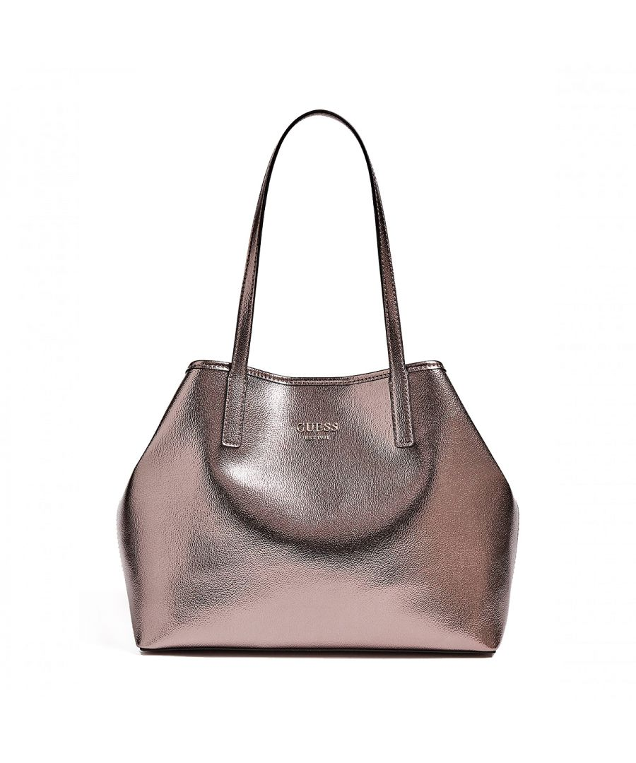 Image for Vikky Tote Silver Guess PEWTER