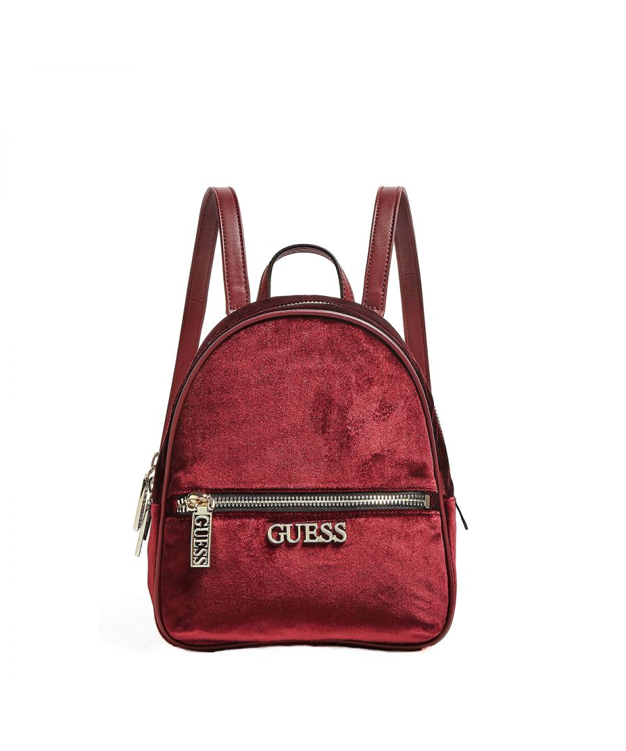 Image for Small Ronnie Backpack in Velvet Guess MERLOT