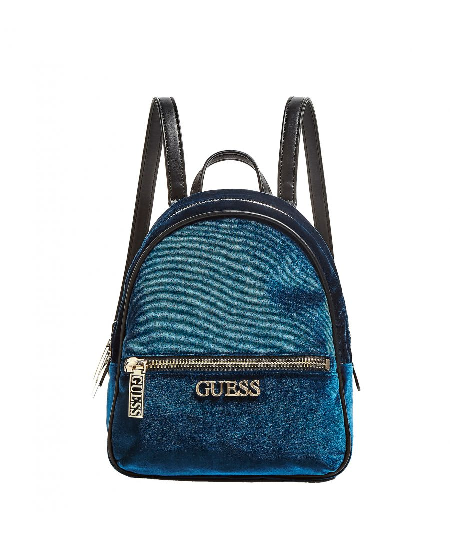 Image for Small Ronnie Backpack in Velvet Guess TEAL