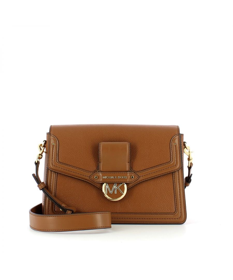 Image for Large Shoulderbag Jessie in pebbled leather Michael Michael Kors LUGGAGE