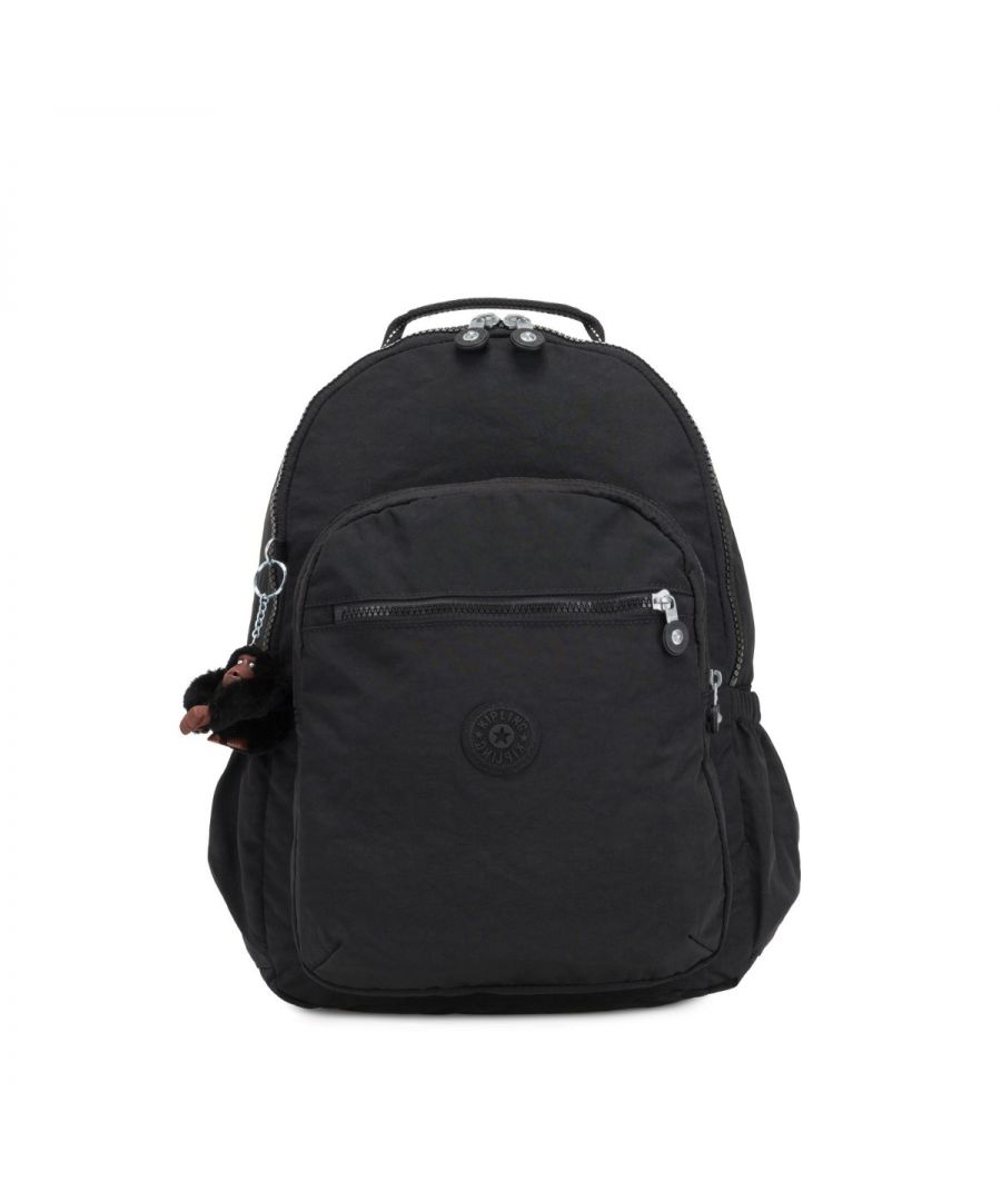 Image for Seoul Go 15.0 Large Backpack with Laptop Protection Kipling TRUE BLACK