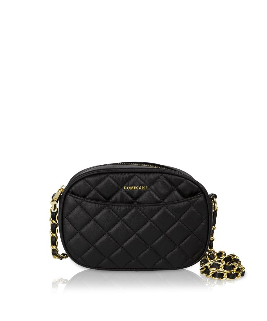 Image for Quilted Queen Crossbody Pomikaki BLACK