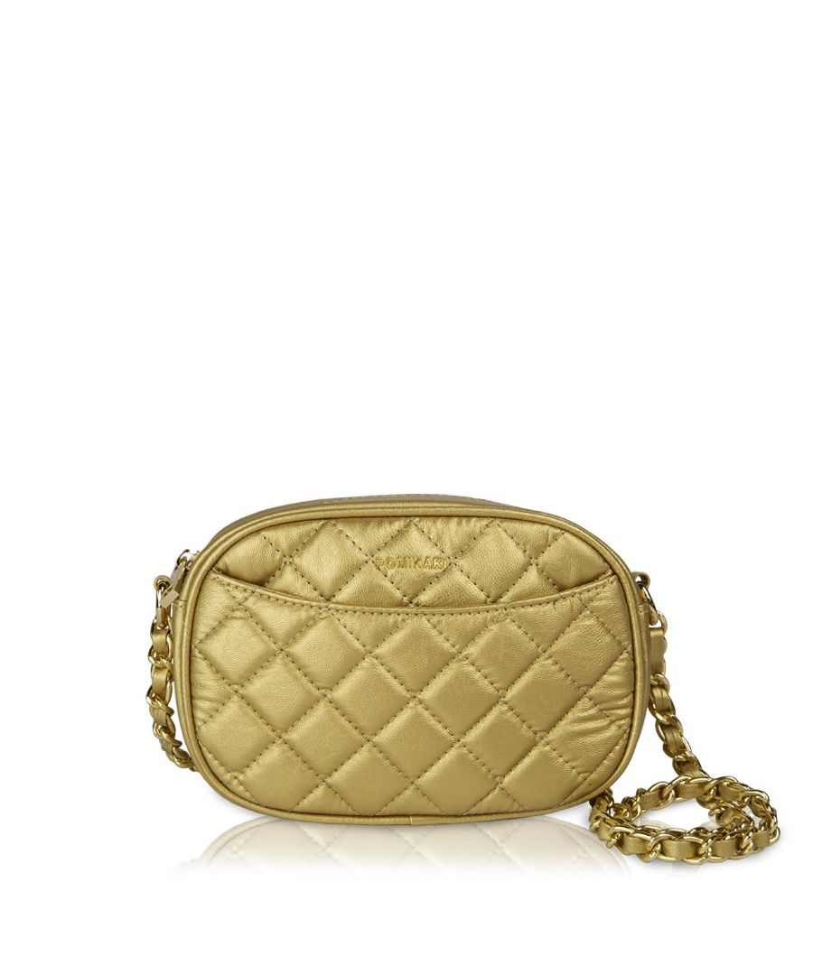 Image for Quilted Queen Crossbody Pomikaki GOLD