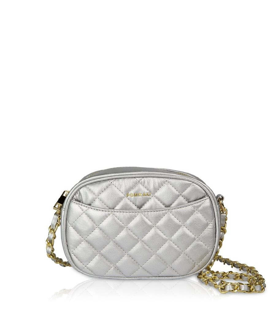 Image for Quilted Queen Crossbody Pomikaki SILVER