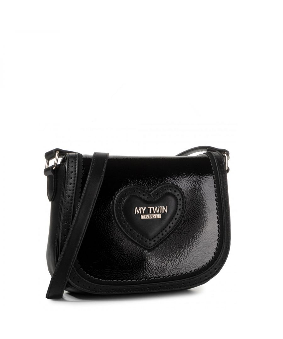 Image for Mini Crossbody Bag with Heart My Twin NERO