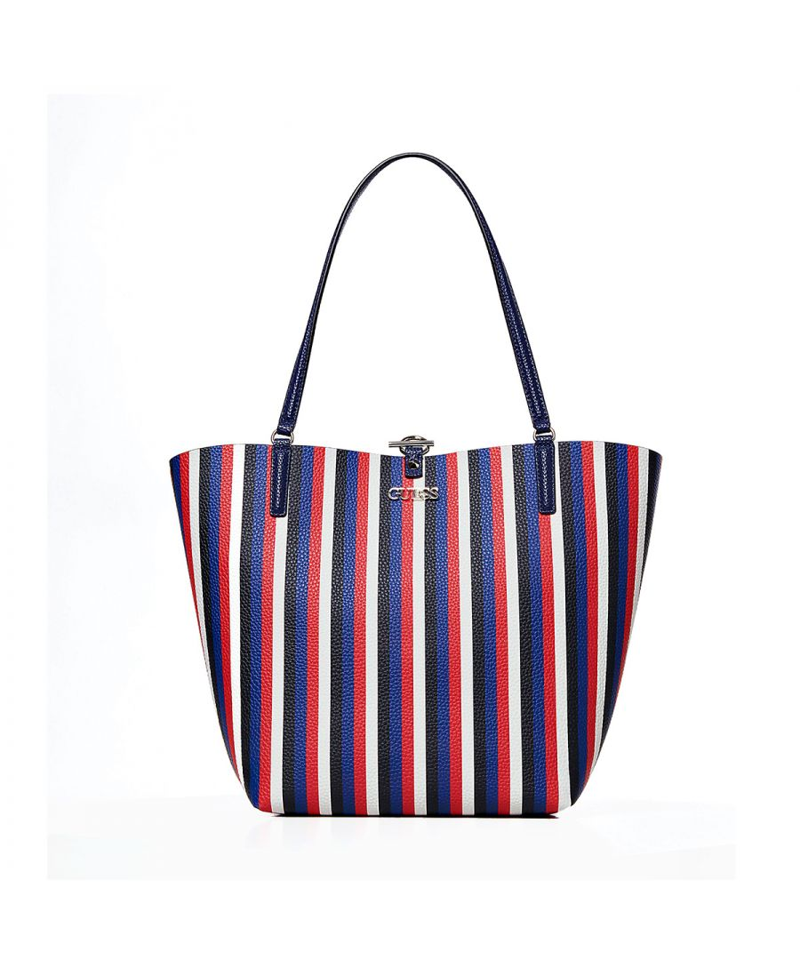 Image for Reversible Shopper Alby Guess BLUE STRIPE