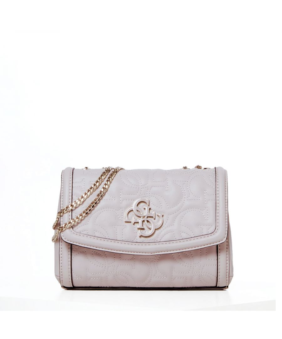 Image for Mini convertible crossbody New Wave 4G Guess MOONSTONE
