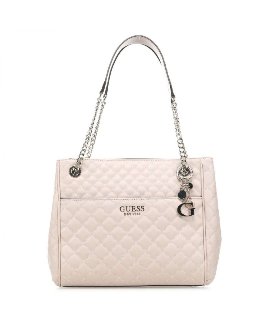 Image for Quilted Brielle Large Shoulderbag Guess TAUPE