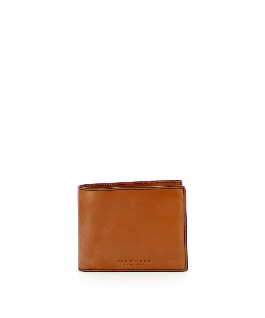 Image for Capalbio Twelve Card Slots Wallet The Bridge COGNAC ABB. ORO