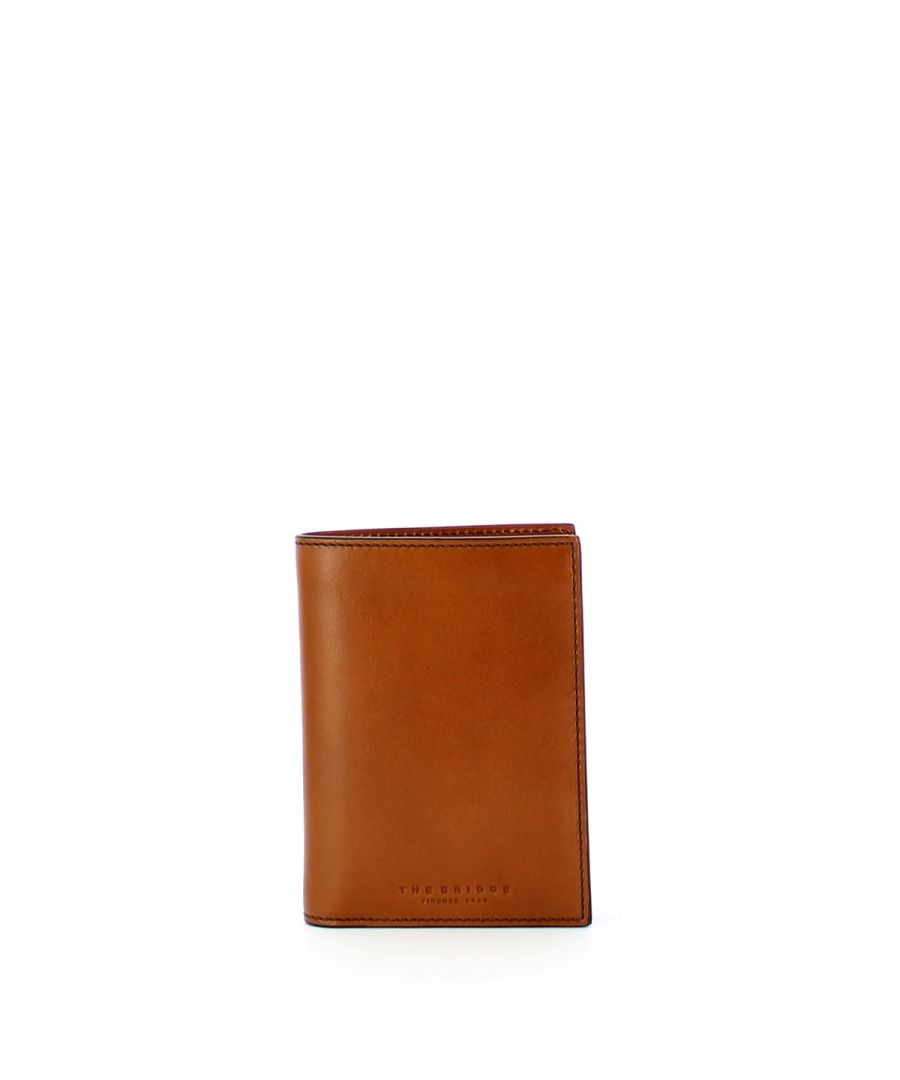 Image for Vertical Men Wallet Capalbio The Bridge COGNAC ABB. ORO