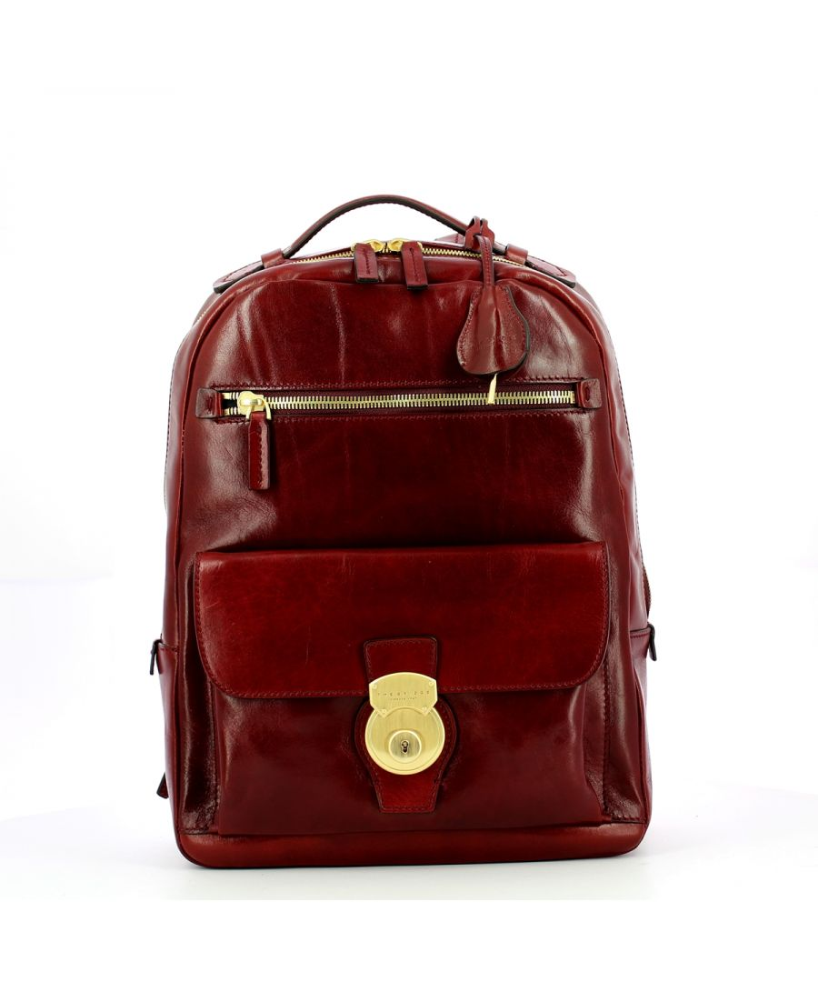 Image for Capalbio Backpack with front lock The Bridge BORDEAUX ABB. O