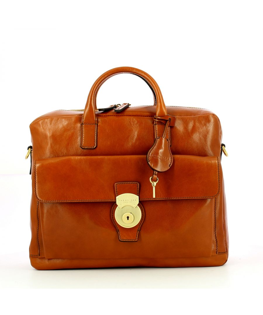 Image for Capalbio Briefcase The Bridge COGNAC ABB. ORO