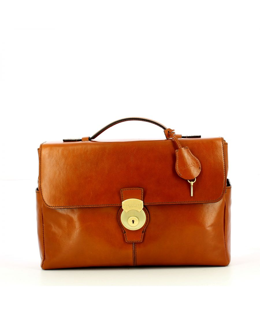 Image for Capalbio 14.0 Computer Briefcase The Bridge COGNAC ABB. ORO