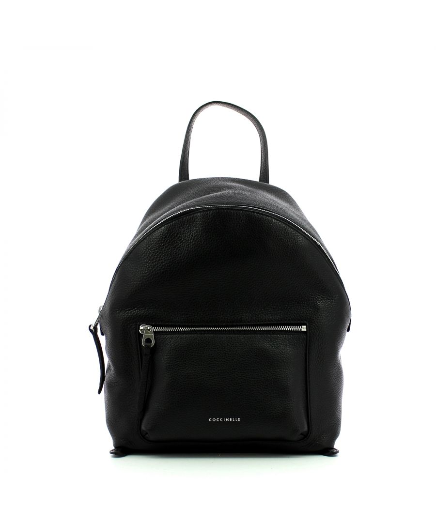 Image for Alix Backpack in Grained Leather Coccinelle NOIR