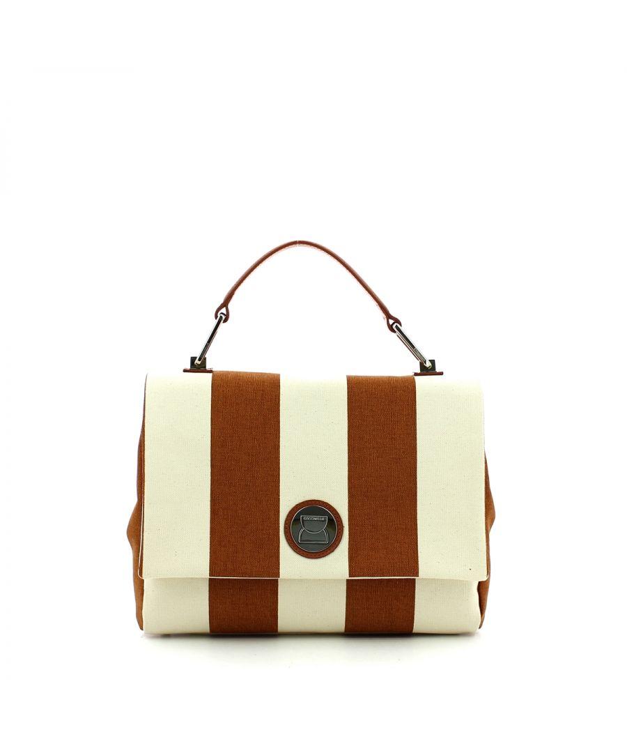 Image for Liya Medium Handbag in Canvas Coccinelle TAN/TAN
