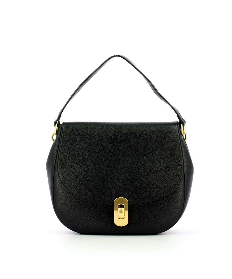 Image for Zaniah Shoulderbag in Natural Grain Leather Coccinelle NOIR