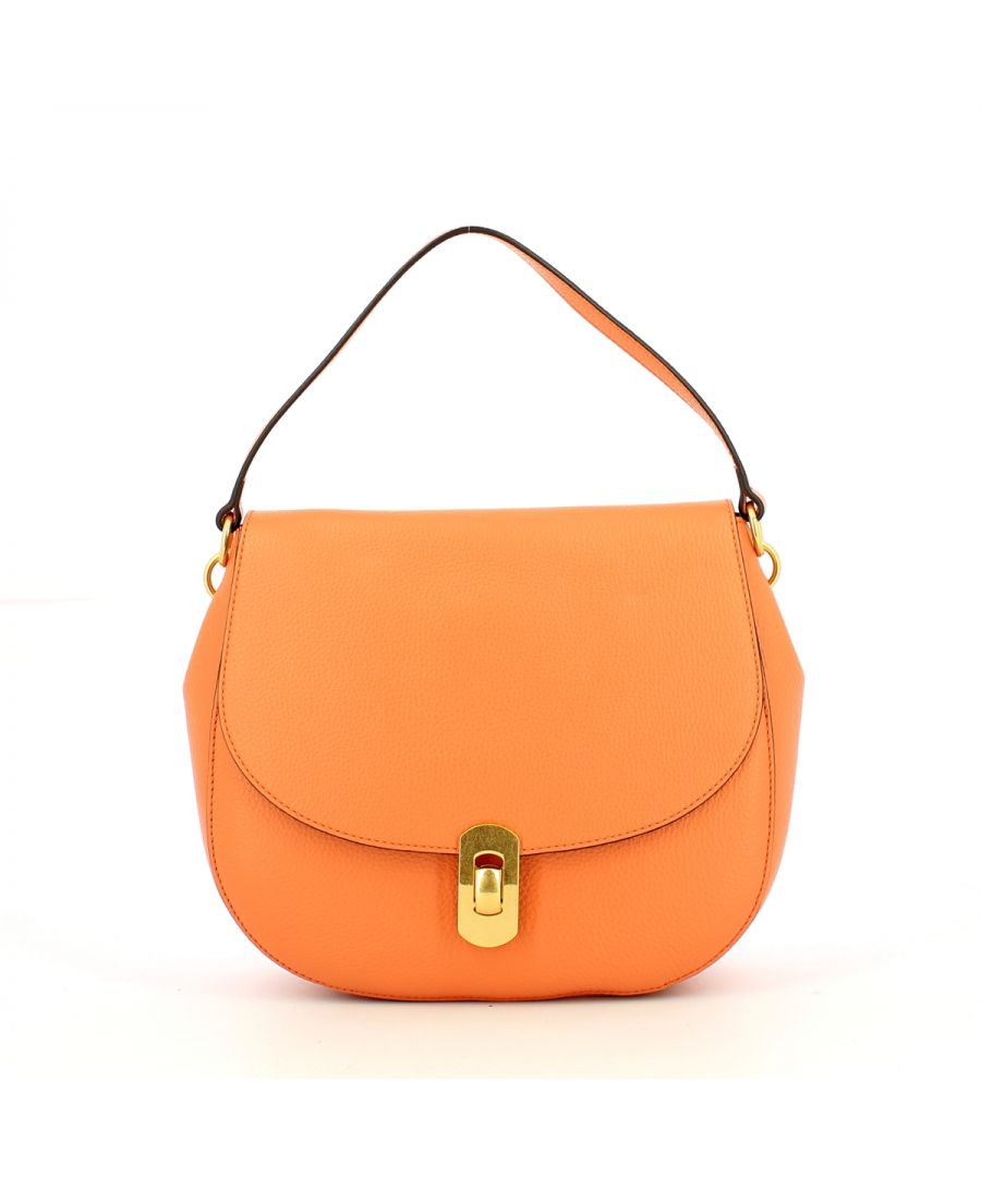 Image for Zaniah Shoulderbag in Natural Grain Leather Coccinelle PEACH