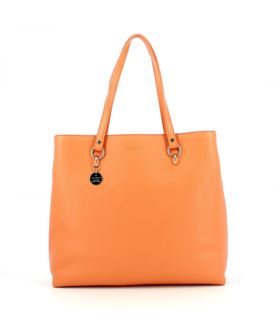 Image for Alpha Medium Shopping Bag Coccinelle PEACH