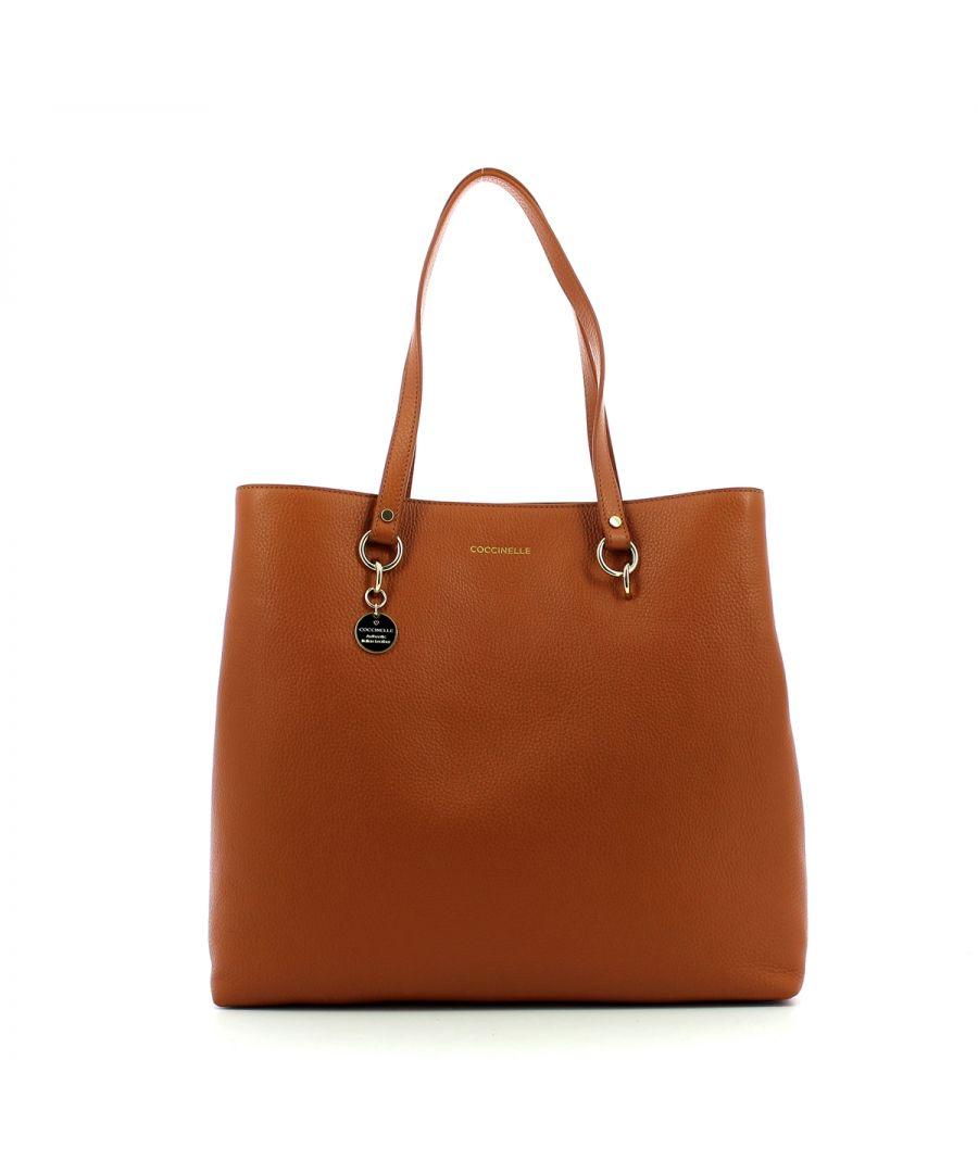 Image for Alpha Medium Shopping Bag Coccinelle TAN