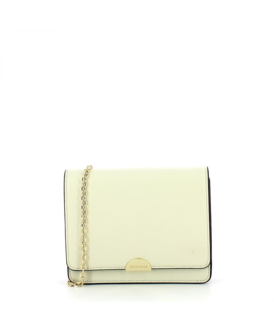 Image for Minibag Half in Natural Grain Leather Coccinelle CHALK