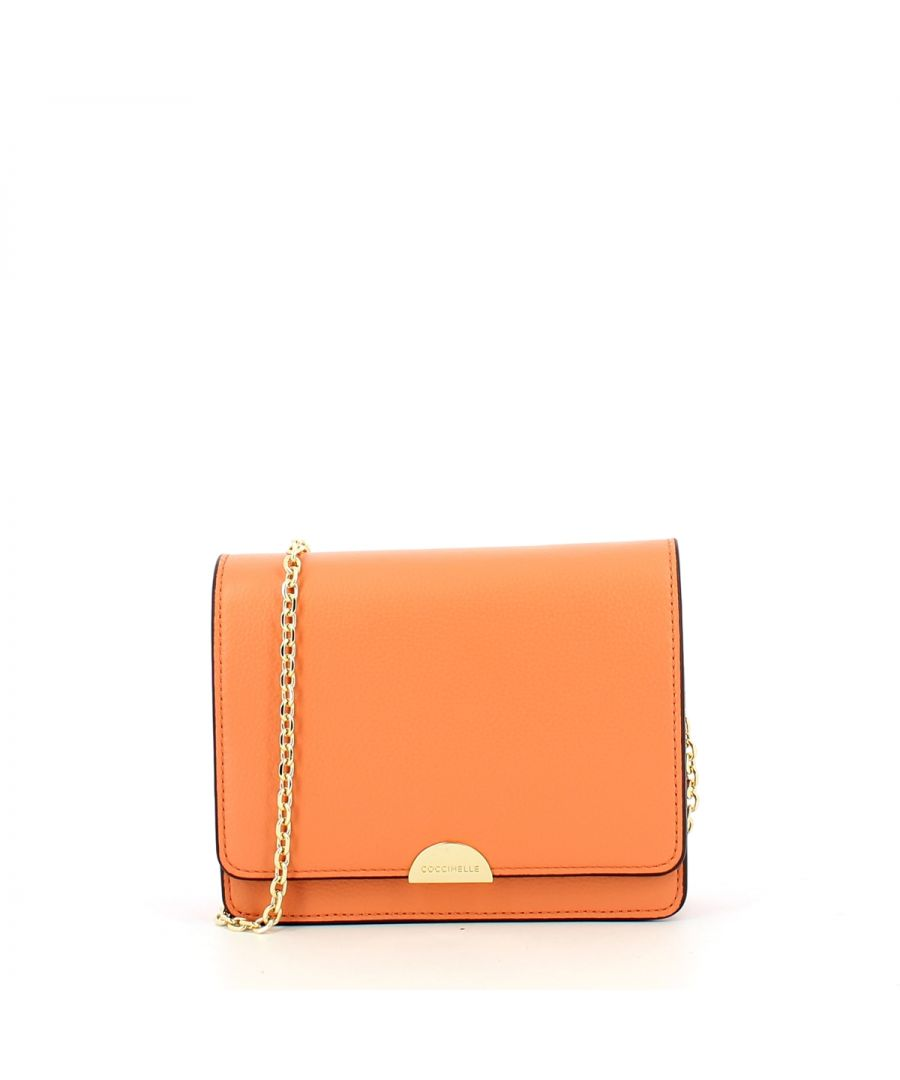 Image for Minibag Half in Natural Grain Leather Coccinelle PEACH