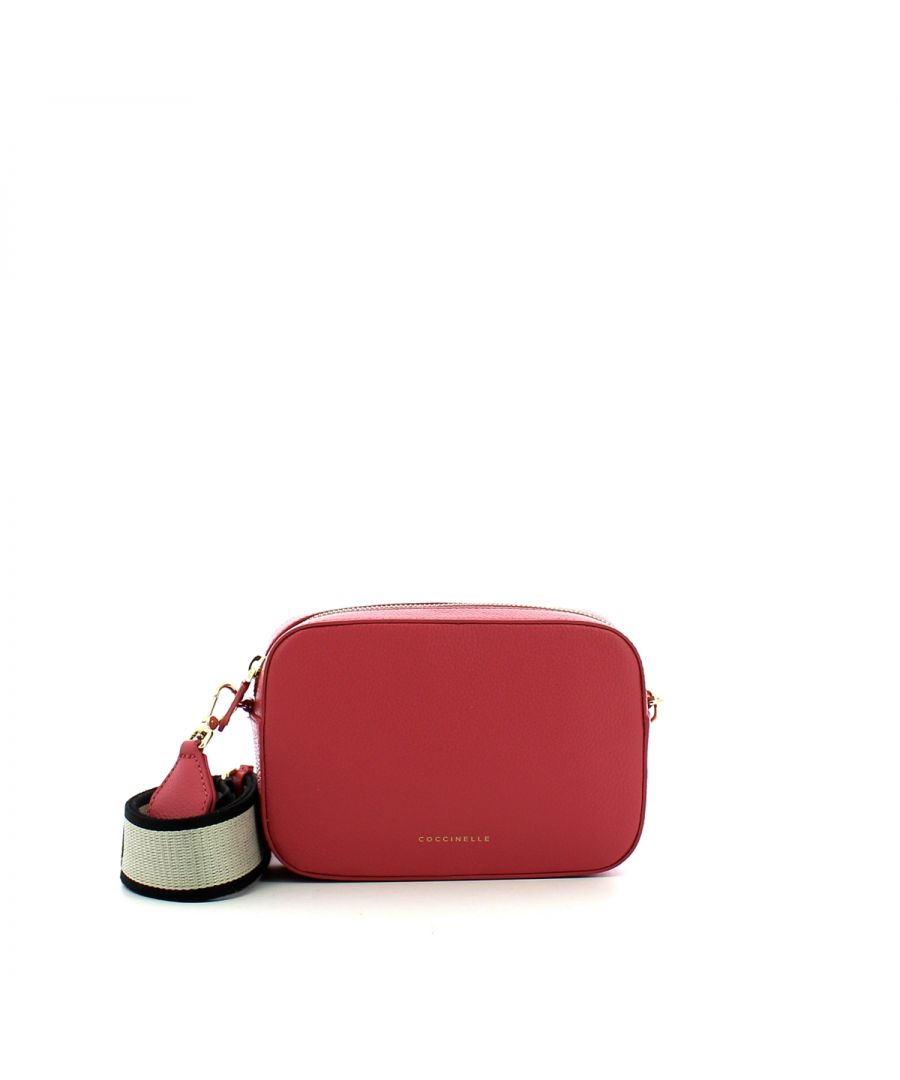 Image for Tebe Crossbody Bag in Tumbled Leather Coccinelle BOUGANVILLE