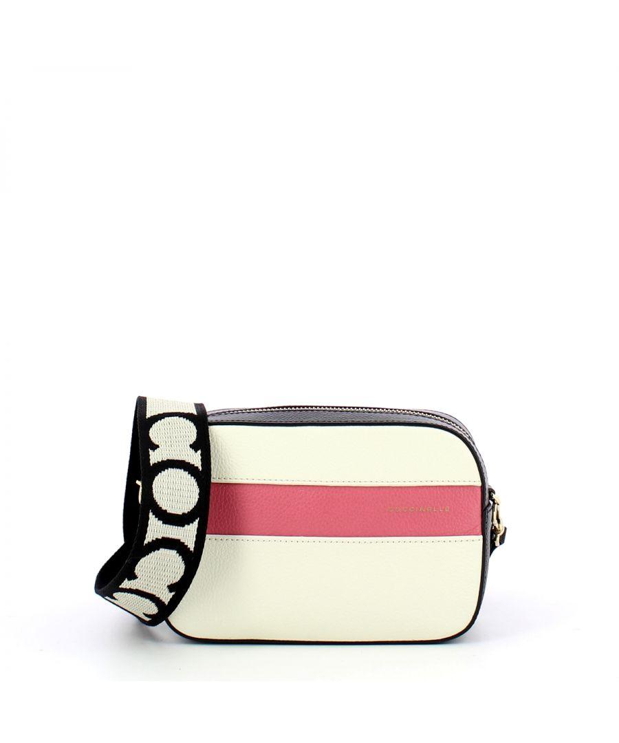Image for Tebe Crossbody Bag Stripes Coccinelle CHALK/NOI/BLUSH
