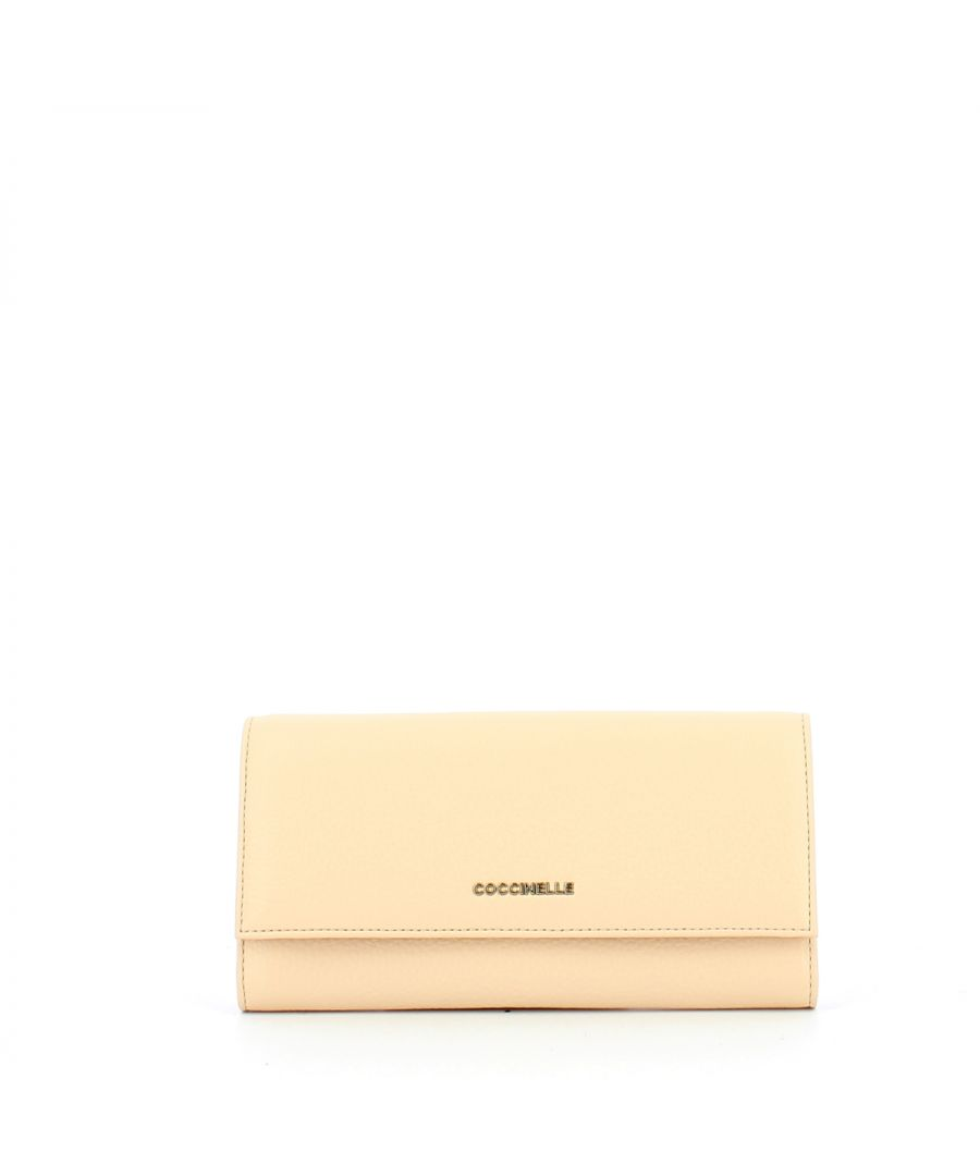 Image for Continental Big Metallic Soft Purse Coccinelle NUDE