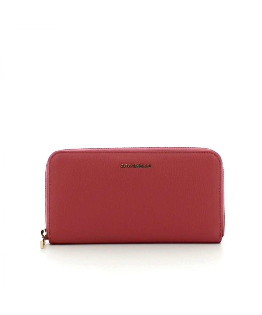 Image for Zip Around Continental Big Metallic Soft Purse Coccinelle BOUGANVILLE