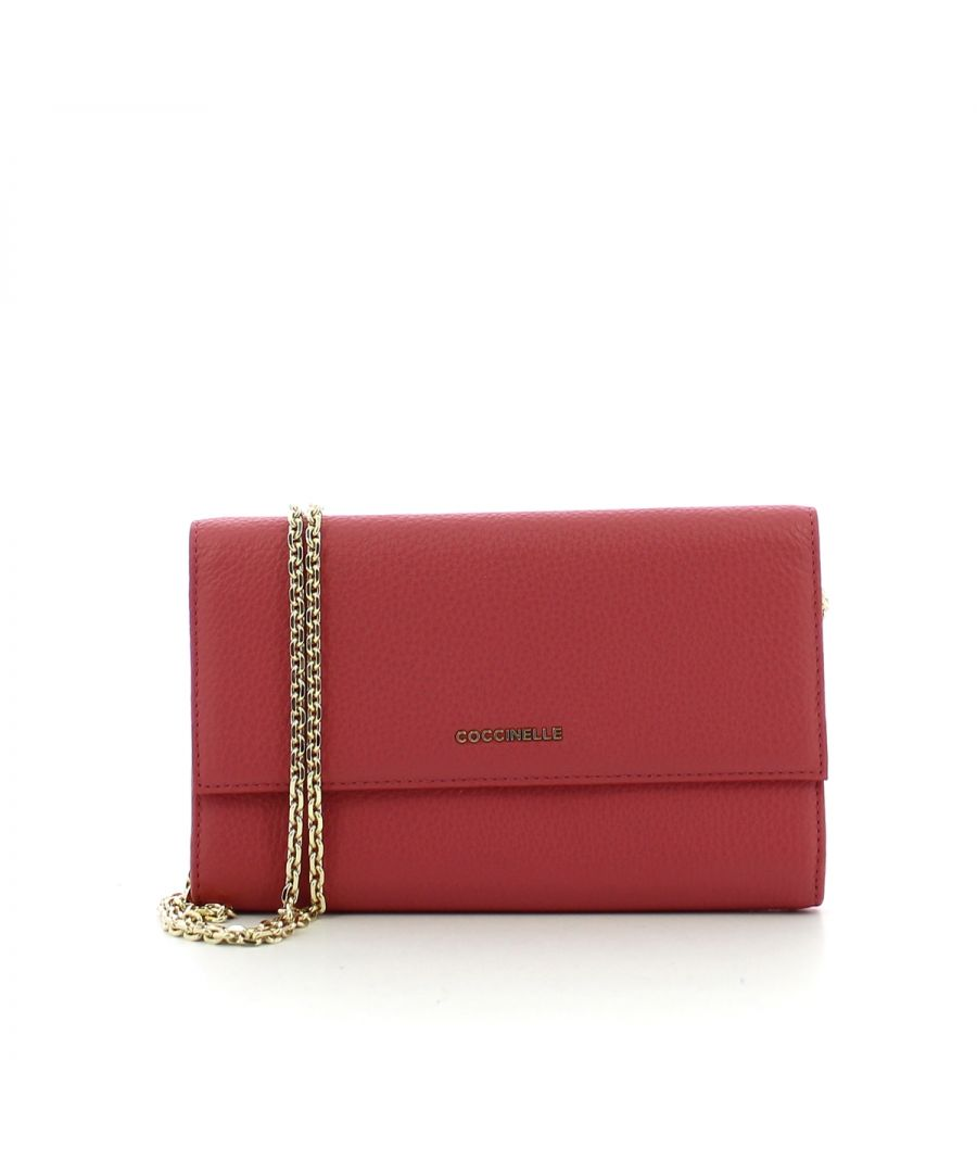 Image for Metallic Soft Clutch Coccinelle BOUGANVILLE