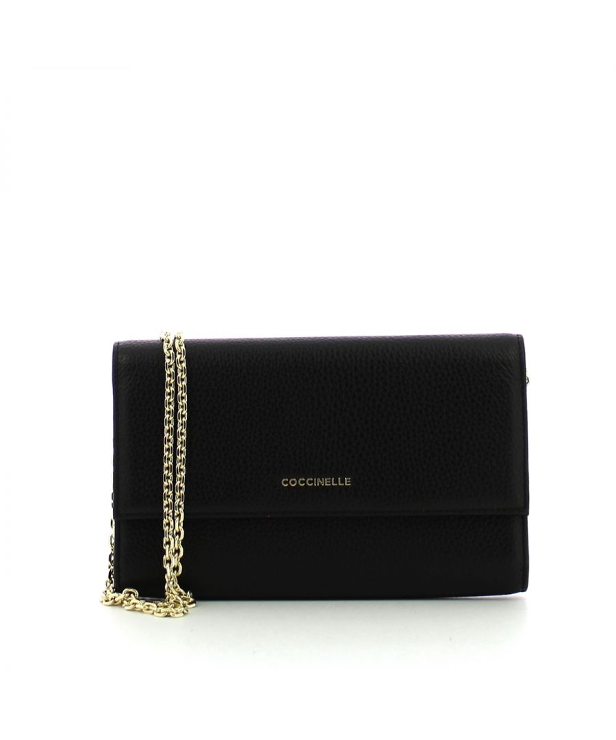 Image for Metallic Soft Clutch Coccinelle NOIR
