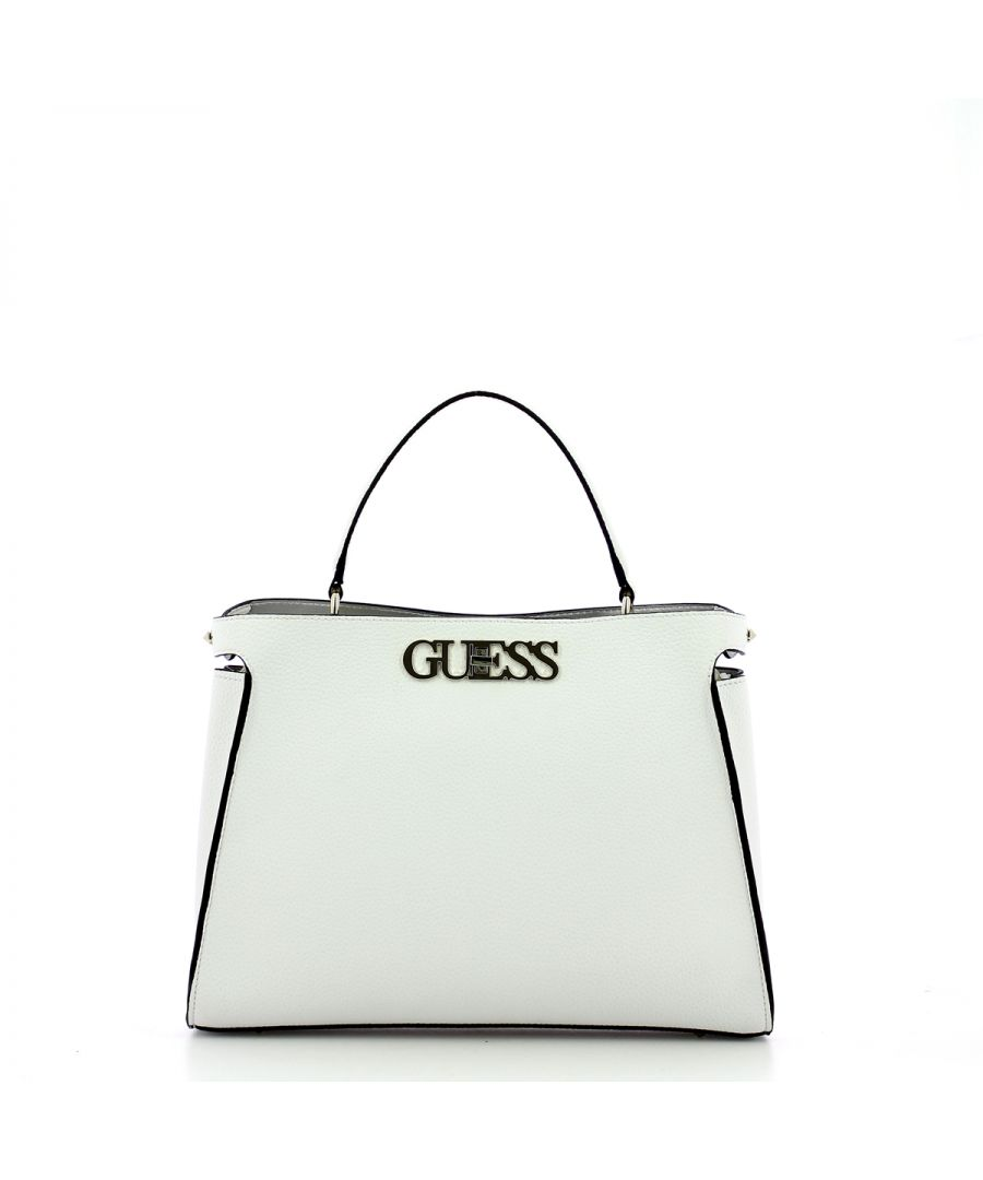 Image for Large Uptown Chic Turnlock Satchel Guess WHITE