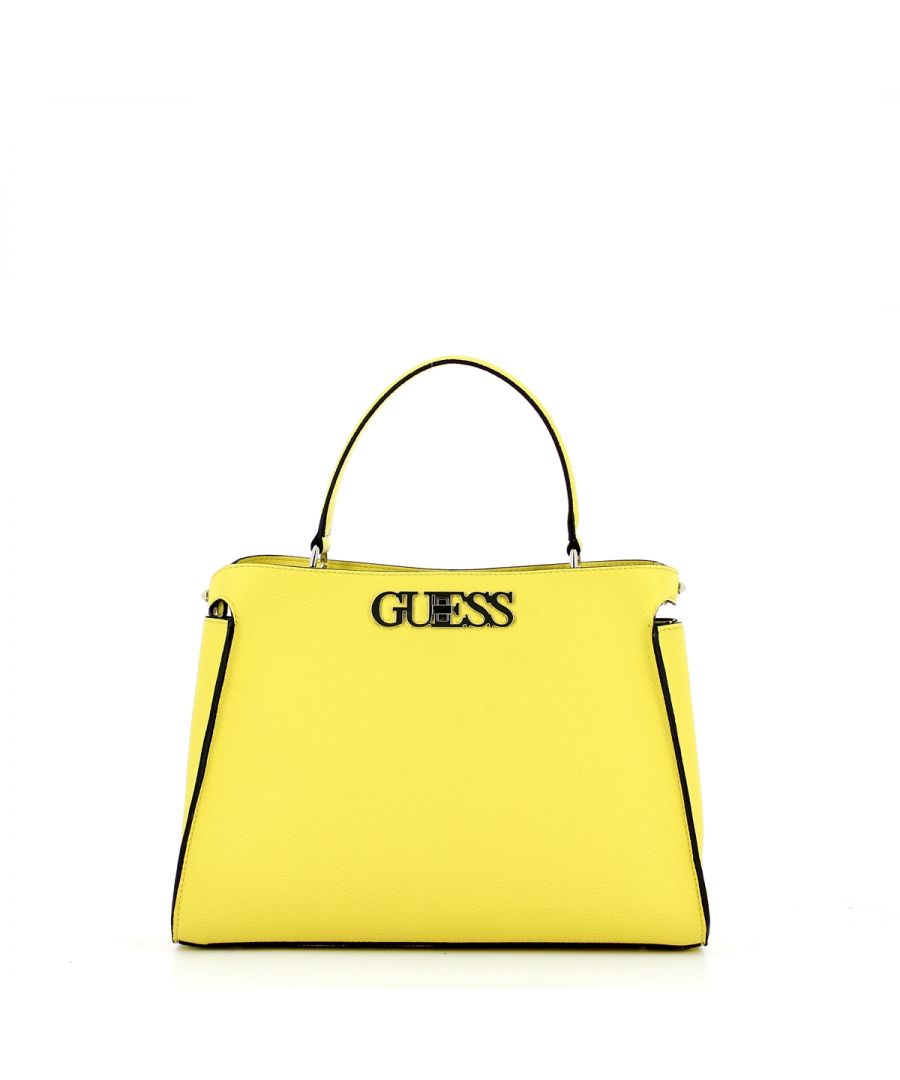 Image for Large Uptown Chic Turnlock Satchel Guess YELLOW