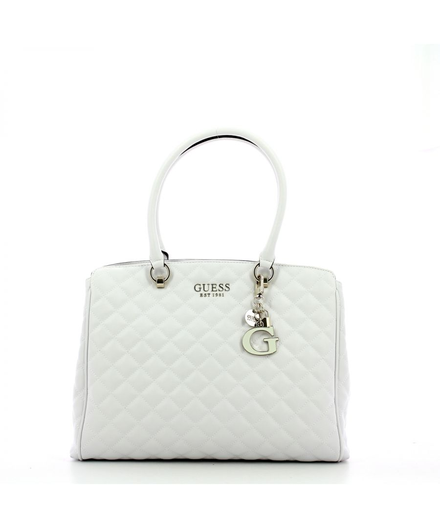 Image for Quilted Carryall Melise Guess WHITE