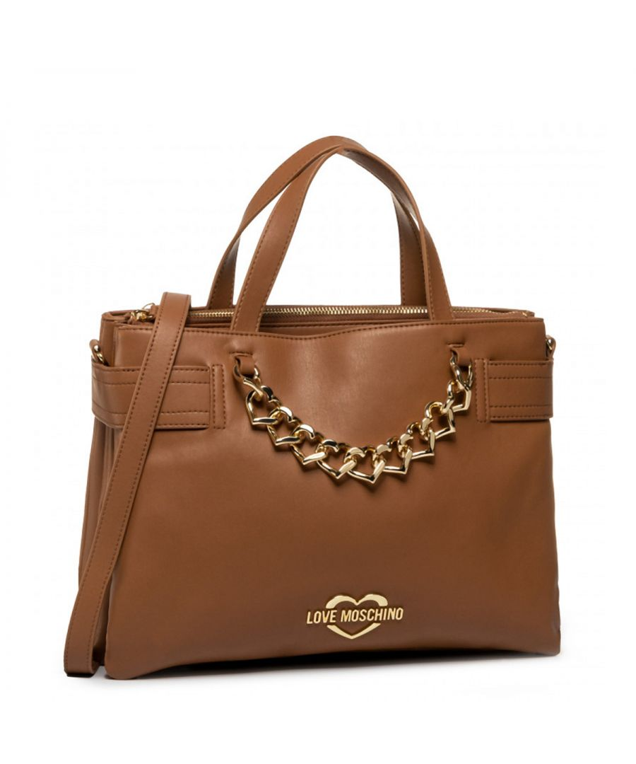 Image for Chain Hearts Satchel Love Moschino CUOIO