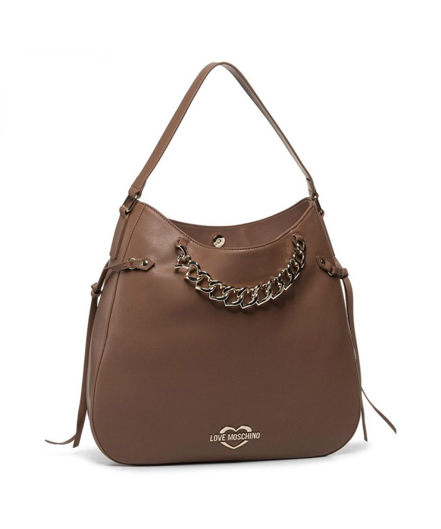 Image for Hobo Bag Chain Hearts Love Moschino CUOIO