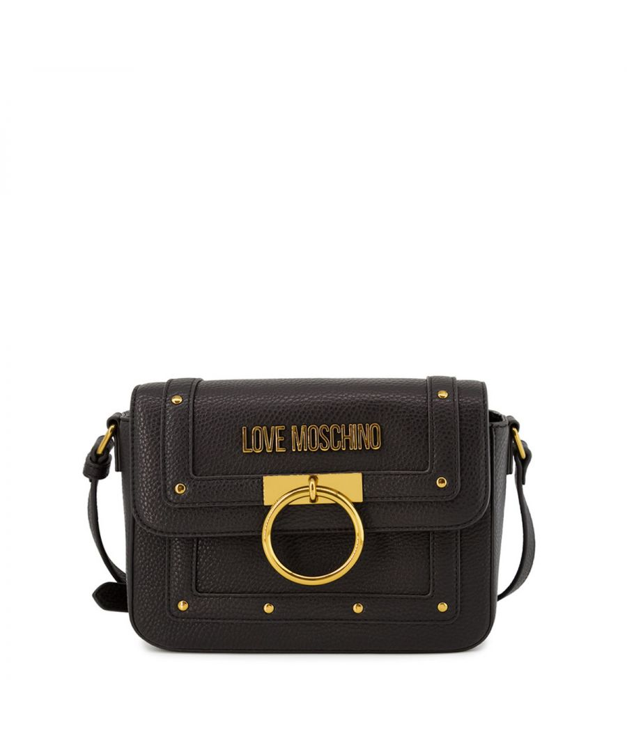 Image for Studs and ring Crossbody Bag Love Moschino NERO