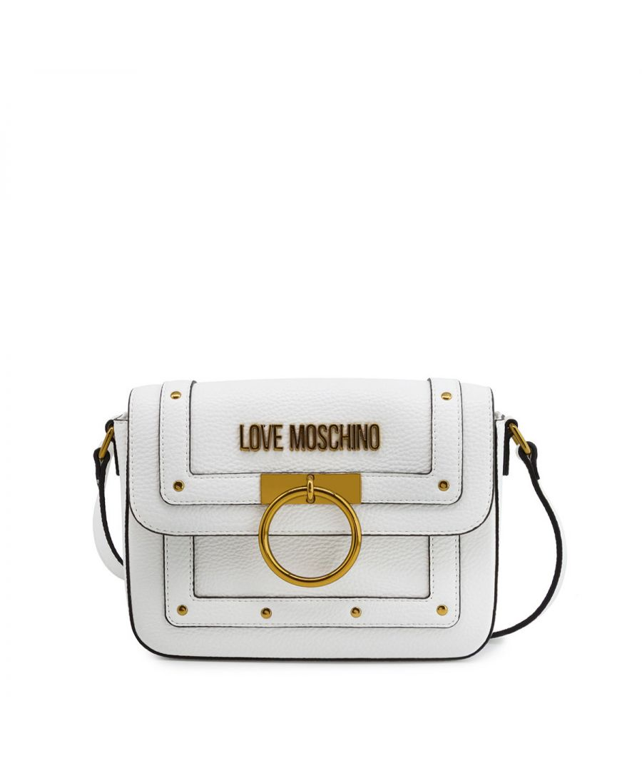 Image for Studs and ring Crossbody Bag Love Moschino BIANCO