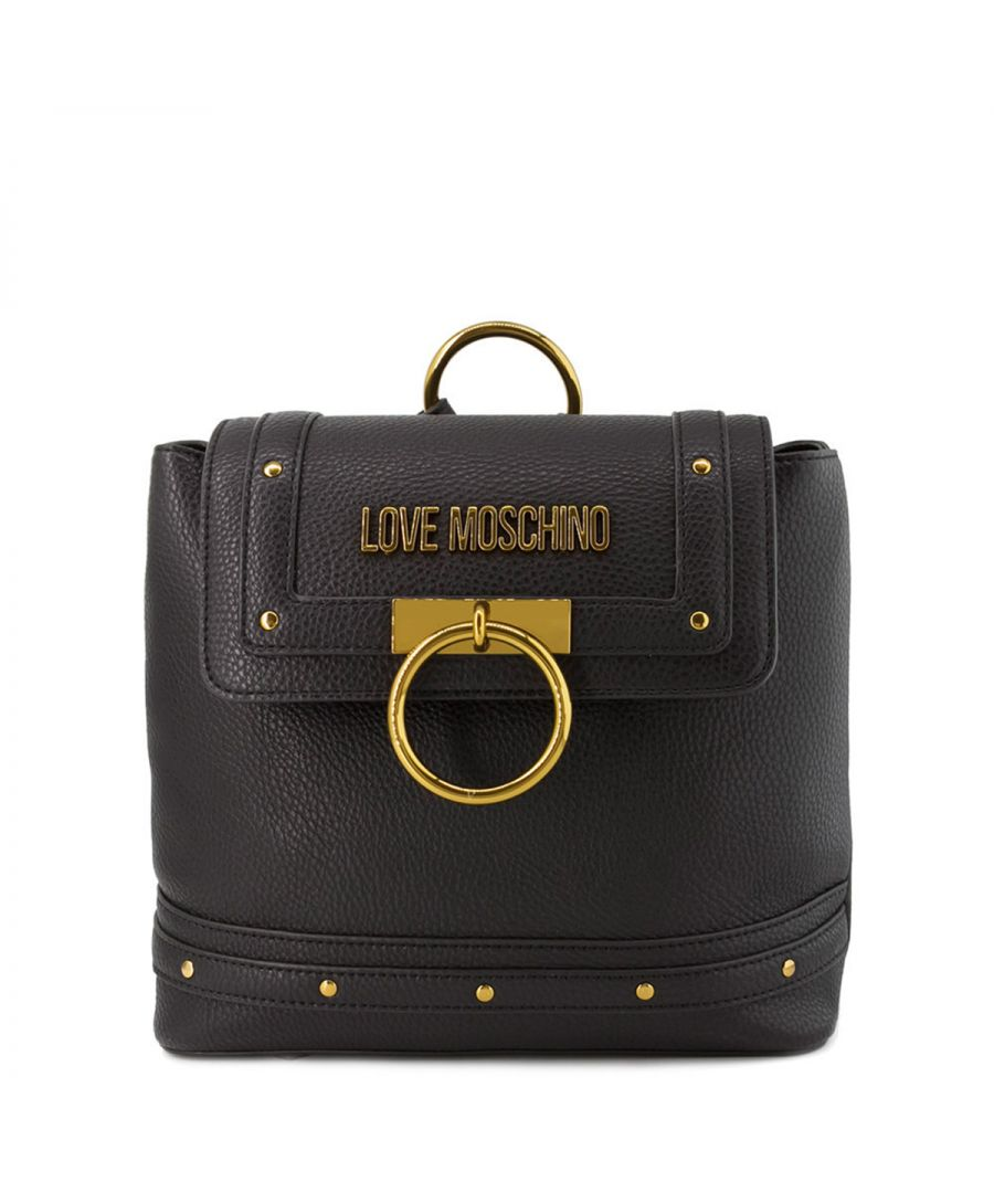 Image for Studs and ring Backpack Love Moschino NERO
