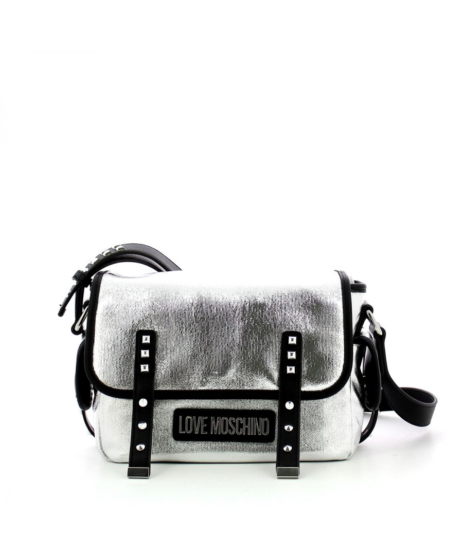 Image for Canvas Messenger with studs Love Moschino ARGENTO+PU NERO